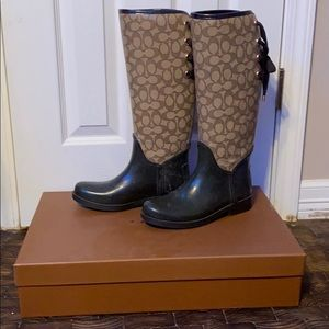 Coach rubber boots
